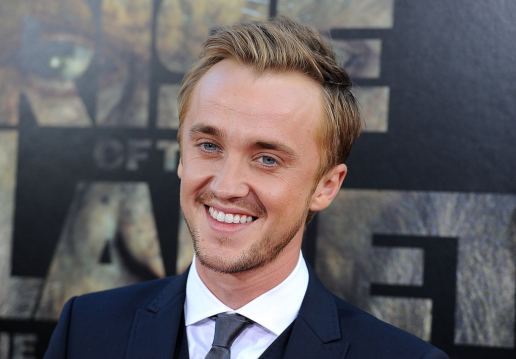 Tom Felton looked dapper in a suit and tie.