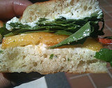 Peach, Arugula, and Goat Cheese