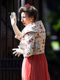 Princess Anne arrives at her daughter Zara's wedding.