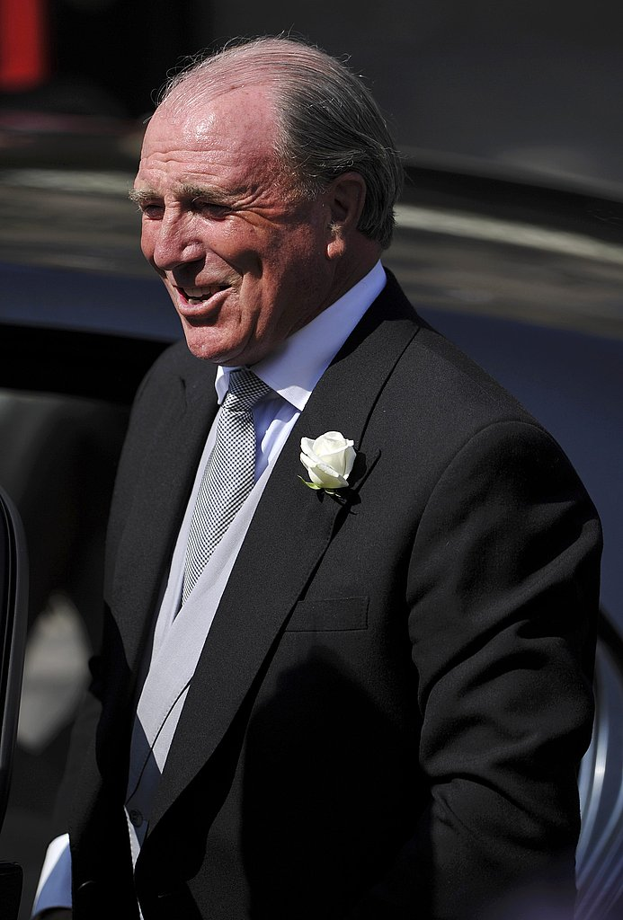 Zara's father, Mark Phillips, looks so happy at the wedding of his only daughter.