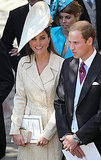 Prince William and Kate Middleton attend the wedding of Will's first cousin Zara Phillips.