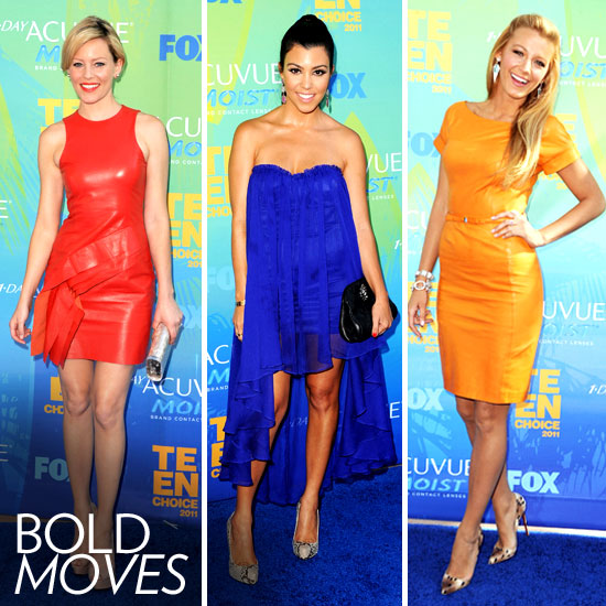 High-Wattage Hues Rule at the Teen Choice Awards