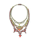 Tom Binns Fauve Hand-Painted Swarovski Crystal Necklace, $975