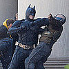 The Dark Knight Rises Set Pictures of Tom Hardy as Bane, Christian Bale as Batman and Marion Cotillard