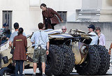 Marion Cotillard films The Dark Knight Rises.