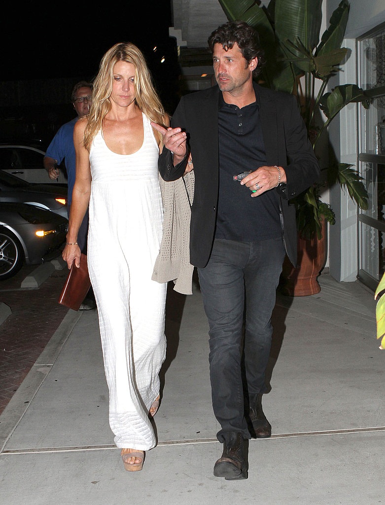 Patrick Dempsey led Jillian to the car.