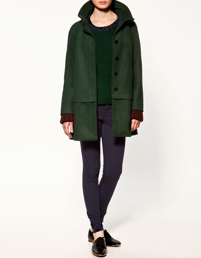 Woolen Cloth Coat, $129