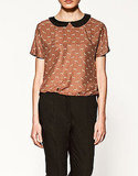Top with Peter Pan Collar, $79.90