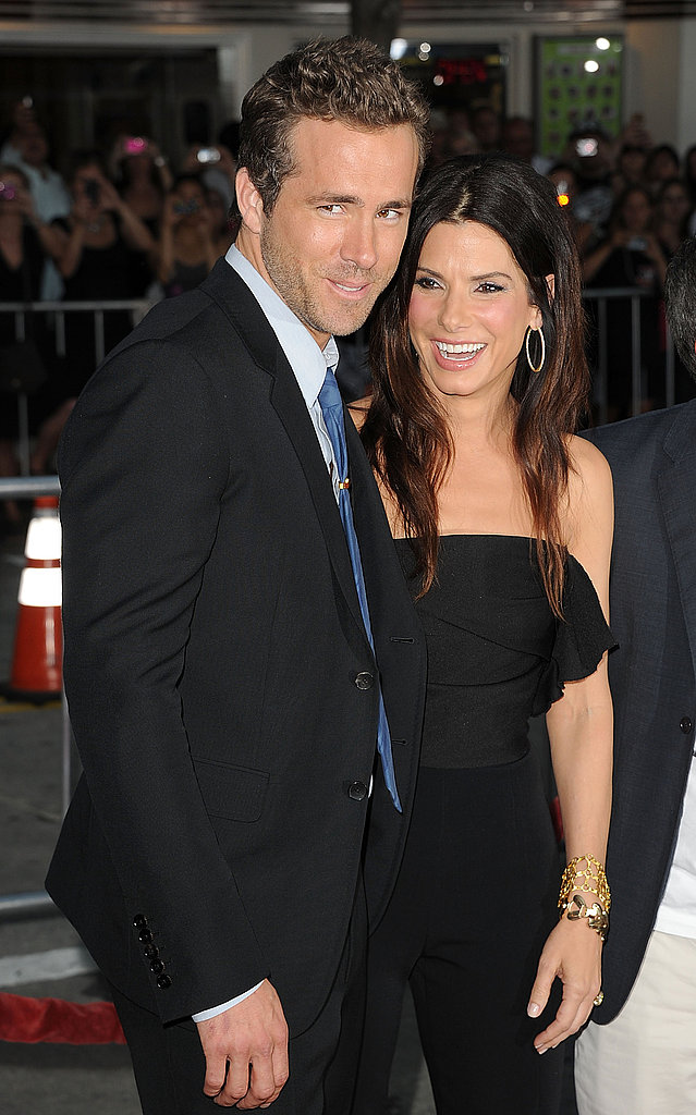 Ryan Reynolds and Sandra Bullock at The Change-Up premiere.