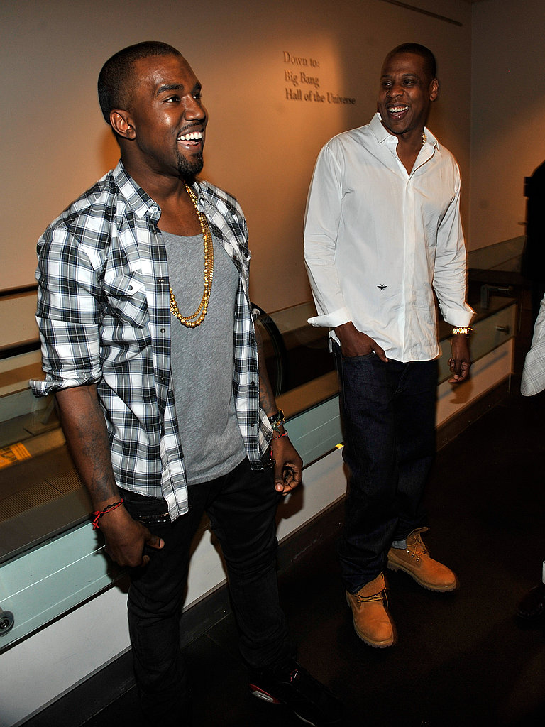 Jay-Z and Kanye West at Watch the Throne's listening party.