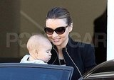 Miranda Kerr brings baby Flynn Bloom to work.