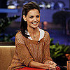 Katie Holmes Pictures in Red Leather Pants on Tonight Show