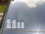 Daleks Family Car Sticker ($12)