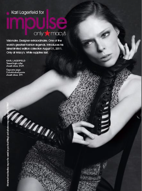 Coco Rocha in the Karl Lagerfeld for Macy's campaign