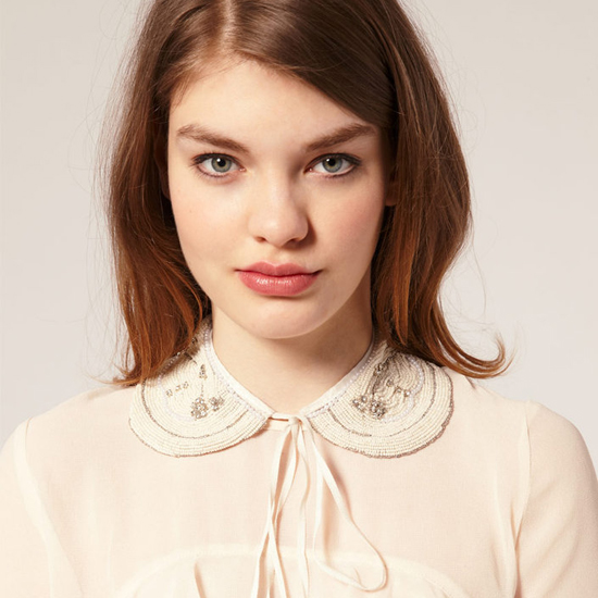 Asos Removable Bead and Pear Peter Pan Collar, $26