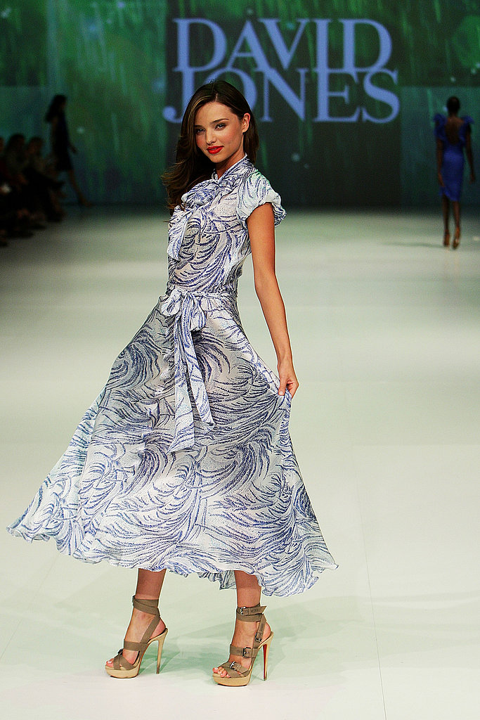 Miranda Kerr in a dress for David Jones.