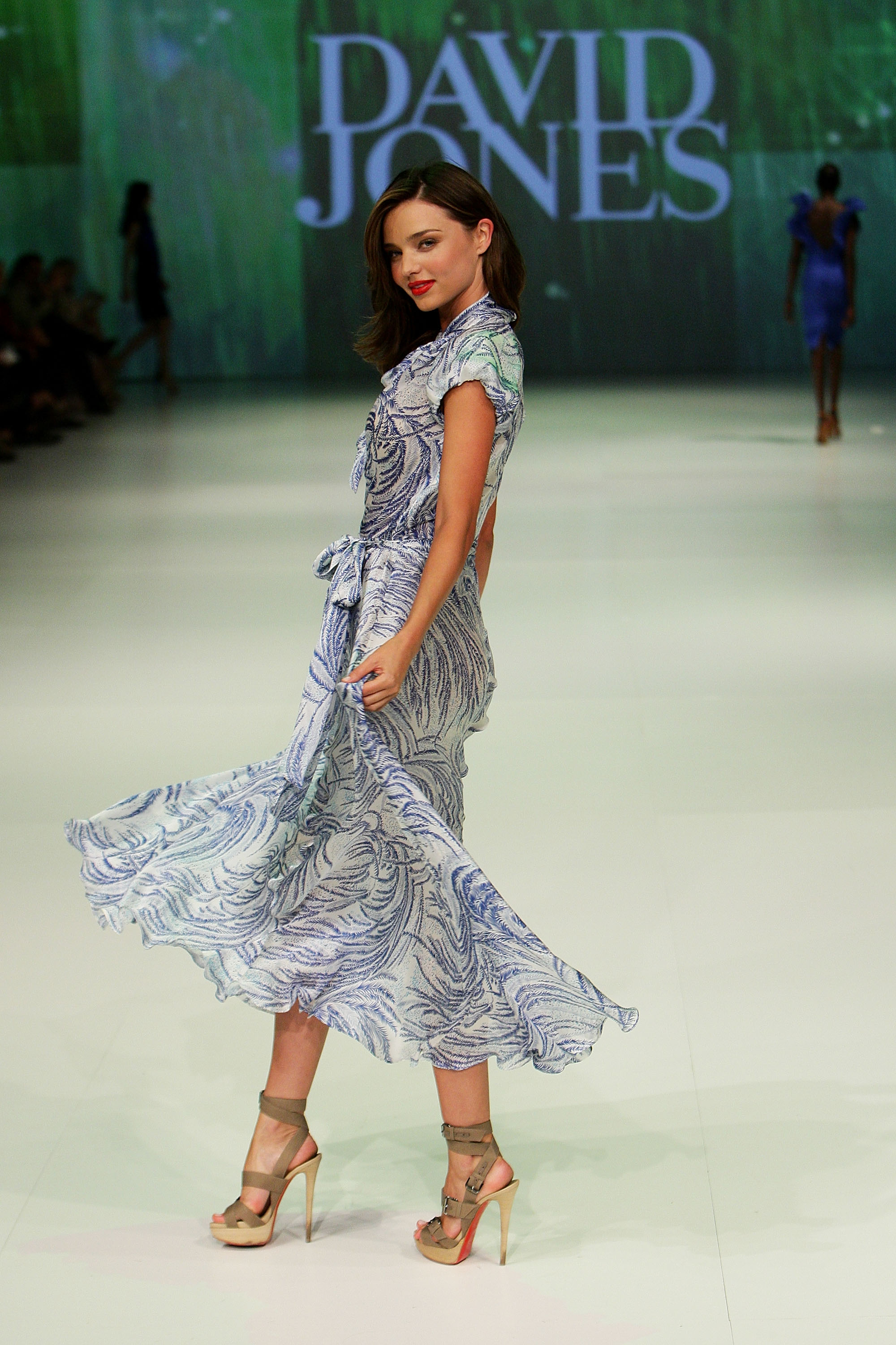 Miranda Kerr on the runway.
