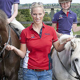 Zara Phillips debuts designs.