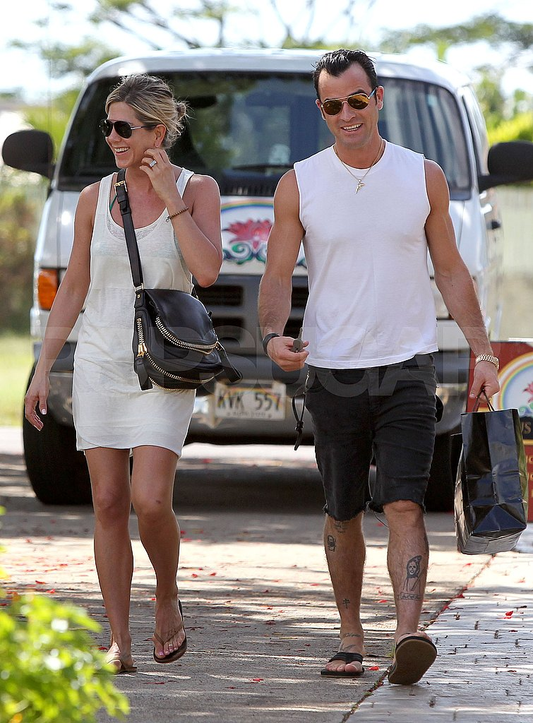 Jennifer Aniston and Justin Theroux in Hawaii.