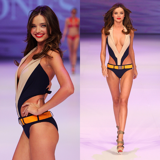 Miranda Kerr Swimsuit Pictures in David Jones Spring Summer Runway Show in Sydney 2011