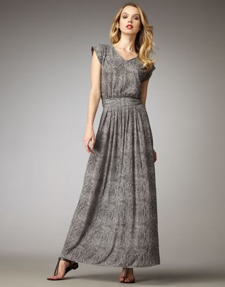 This full-length snake print is subtle enough to work from day to night. Rebecca Taylor Snake-Print Maxi Dress ($195)