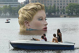 More people enjoy the work of art in Binnenalster lake.