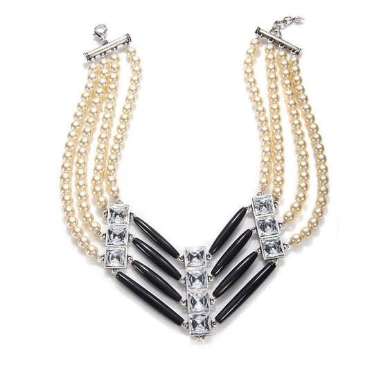 Lulu Frost Quad Pearl Pipe Necklace, $412