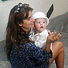 Penelope Cruz, Javier Bardem, and Baby Leo in Italy