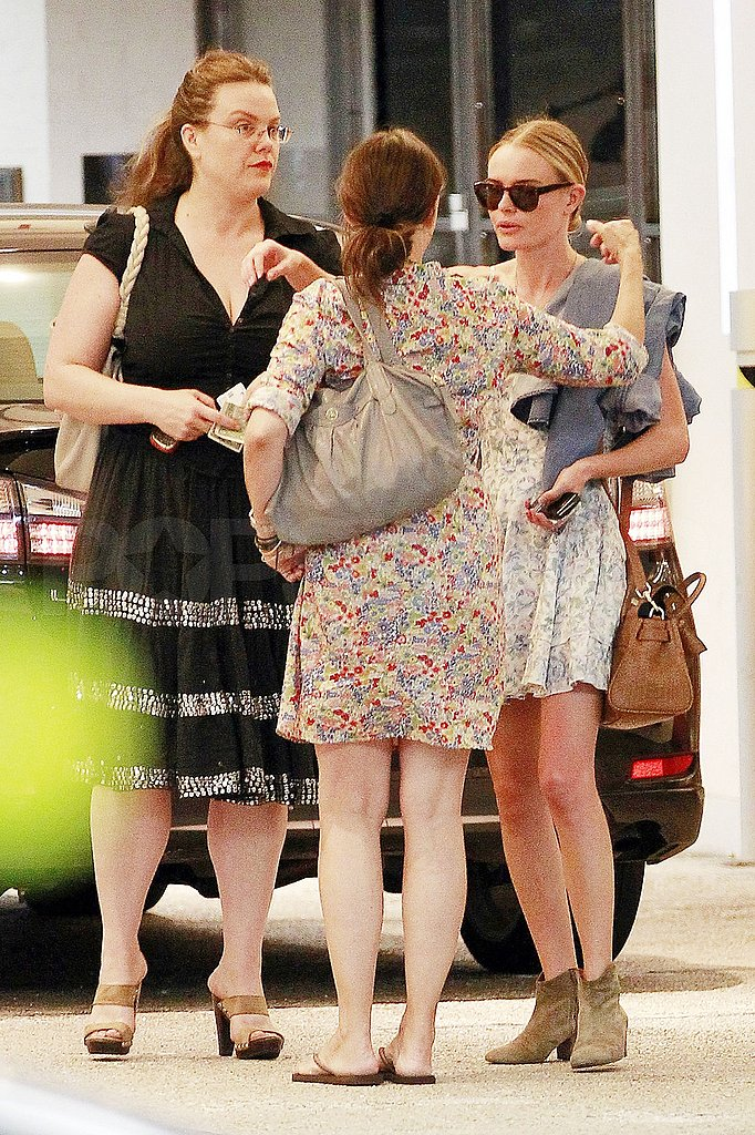 Kate Bosworth hugged a woman goodbye.