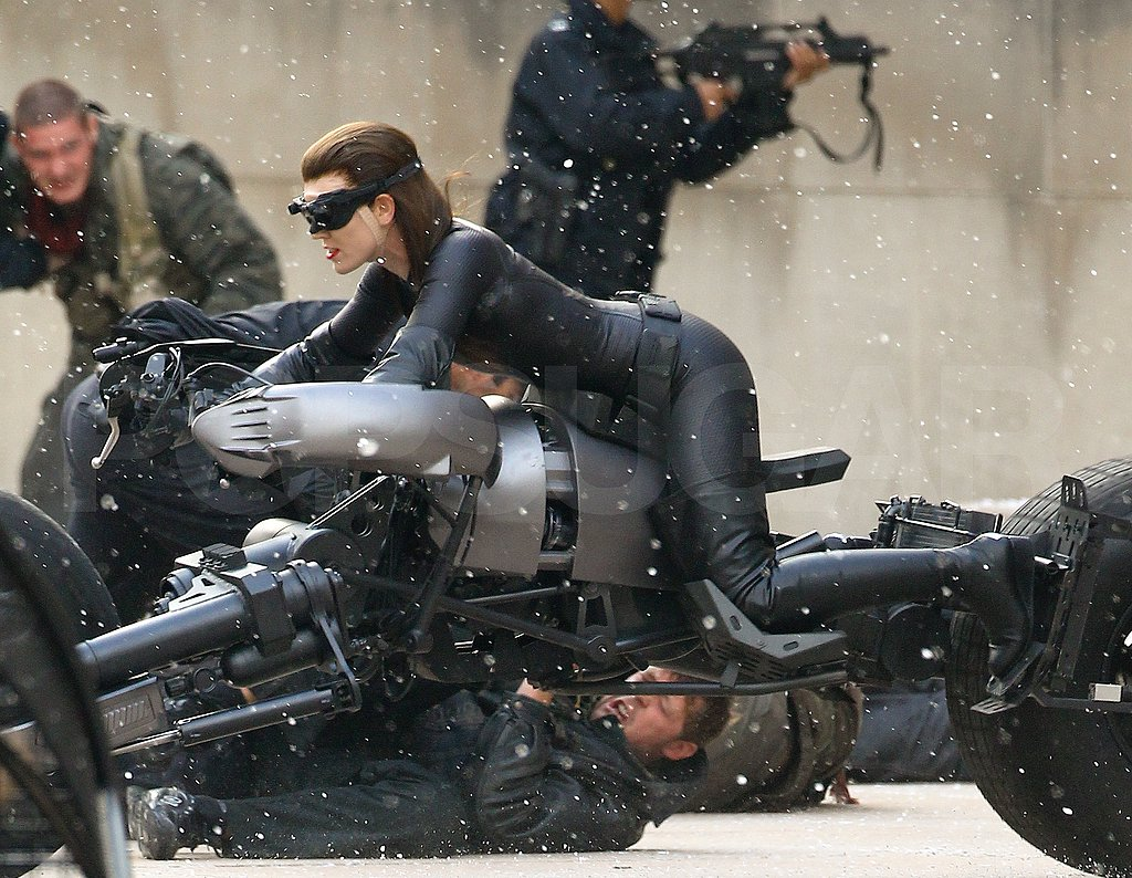 Anne Hathaway filmed an action sequence.