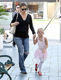 Jennifer Garner Escorts Her Tiny Ballerina Violet to Class