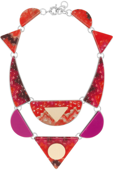 Missoni Geometric Acetate Bib Necklace ($705)