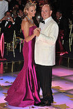Prince Albert II and his wife, Princess Charlene, dance at the Red Cross Gala Ball.