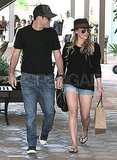 Hilary and Mike checked out the shops in Malibu.