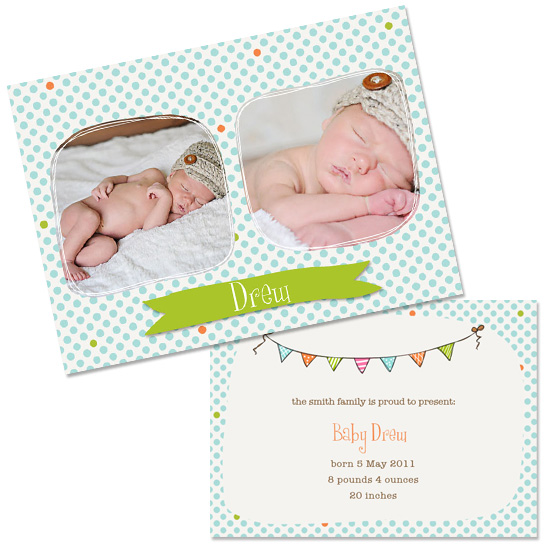 Sweetie Pie Birth Announcement