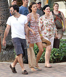 Alessandra Ambrosio and Jamie Mazur in Hawaii.