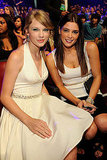 Ashley Greene and Taylor Swift in white at the Teen Choice Awards.