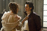 Milla Jovovich as M'lady De Winter and Orlando Bloom as the Duke of Buckingham in The Three Musketeers.
