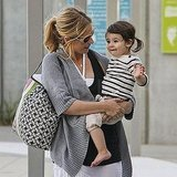 Sarah Michelle Gellar held onto Charlotte Prinze leaving the beach.