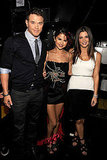 Kellan Lutz with Twilight costar Ashley Greene and the singer Selena Gomez.