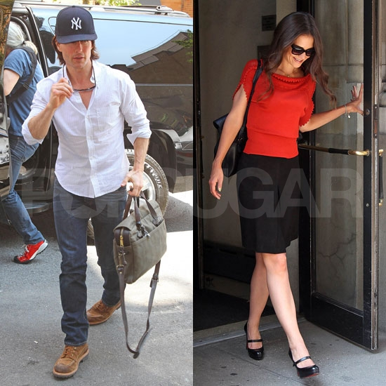 Tom Cruise and Katie Holmes Cross Paths During a Busy Big Apple Day