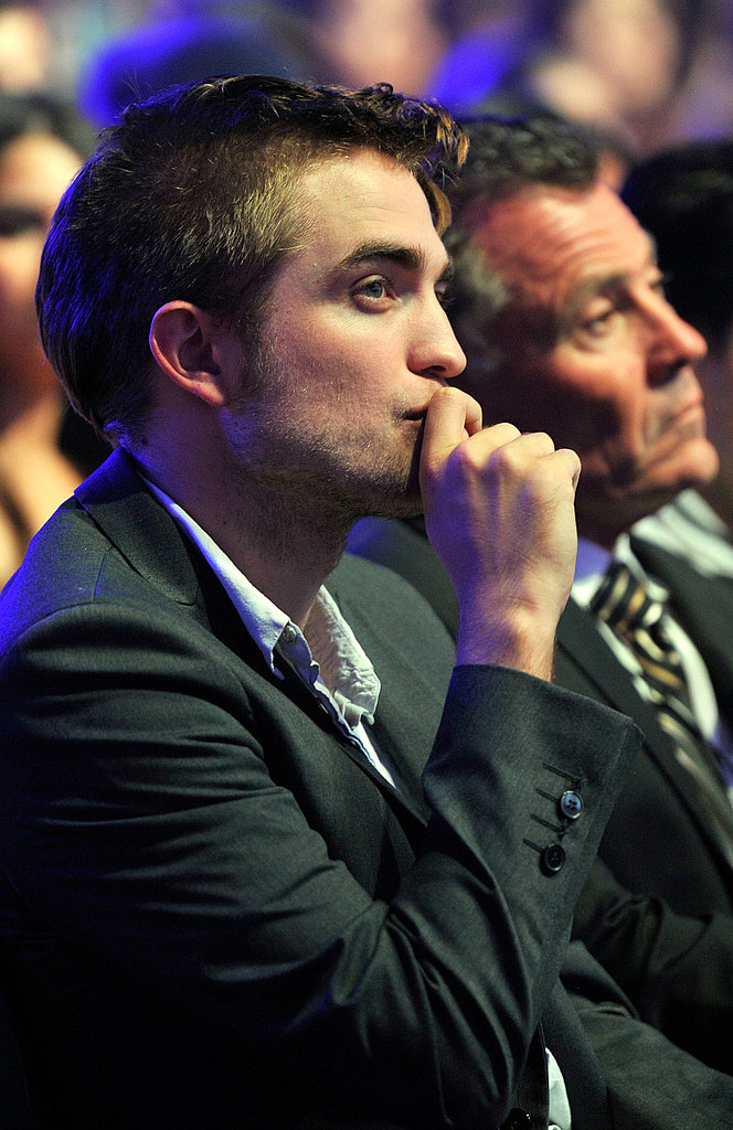 Robert Pattinson in the audience at the 2011 Teen Choice Awards.