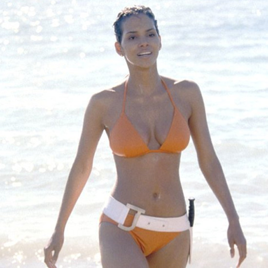 Halle Berry played the role of a bikini-clad Bond girl in 2002's Die Another Day.
