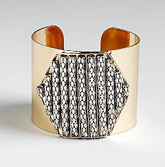Kardashian Kollection Kardashian Kollection Metal Cuff Bracelet With Hexagon Stone Design ($16, originally $24)