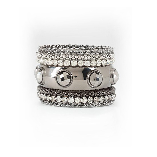 Bebe Woven & Studded Bangle Set, $39