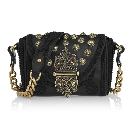 Etro Embellished Leather Shoulder Bag, $1,500