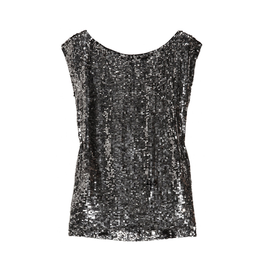 Alice + Olivia Sequined Silk Top, $370