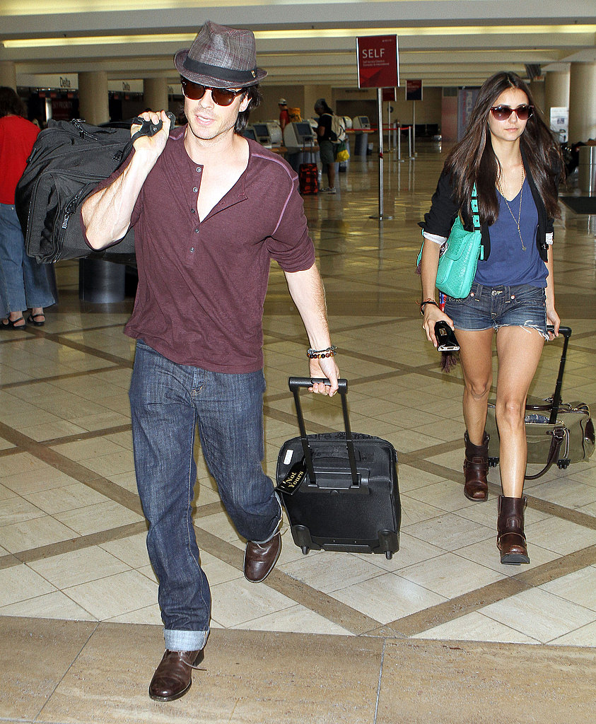 Ian Somerhalder and Nina Dobrev travel together.