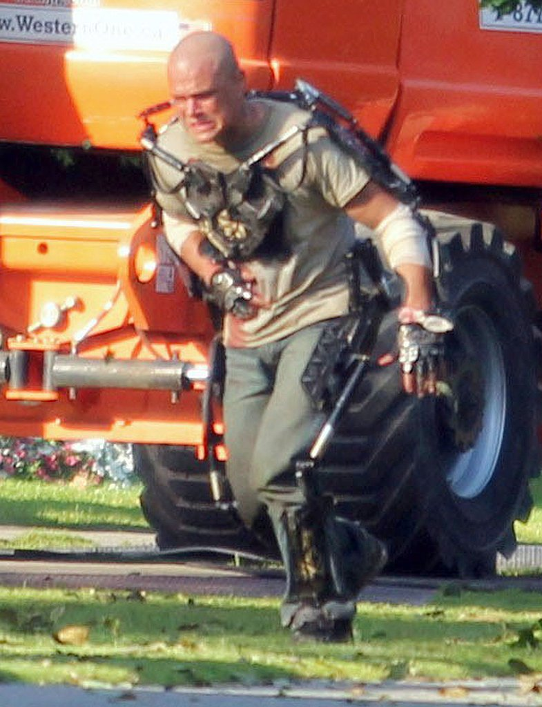 Matt Damon working on a movie in Canada.