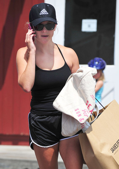 Reese Witherspoon shopped at James Perse in Brentwood.